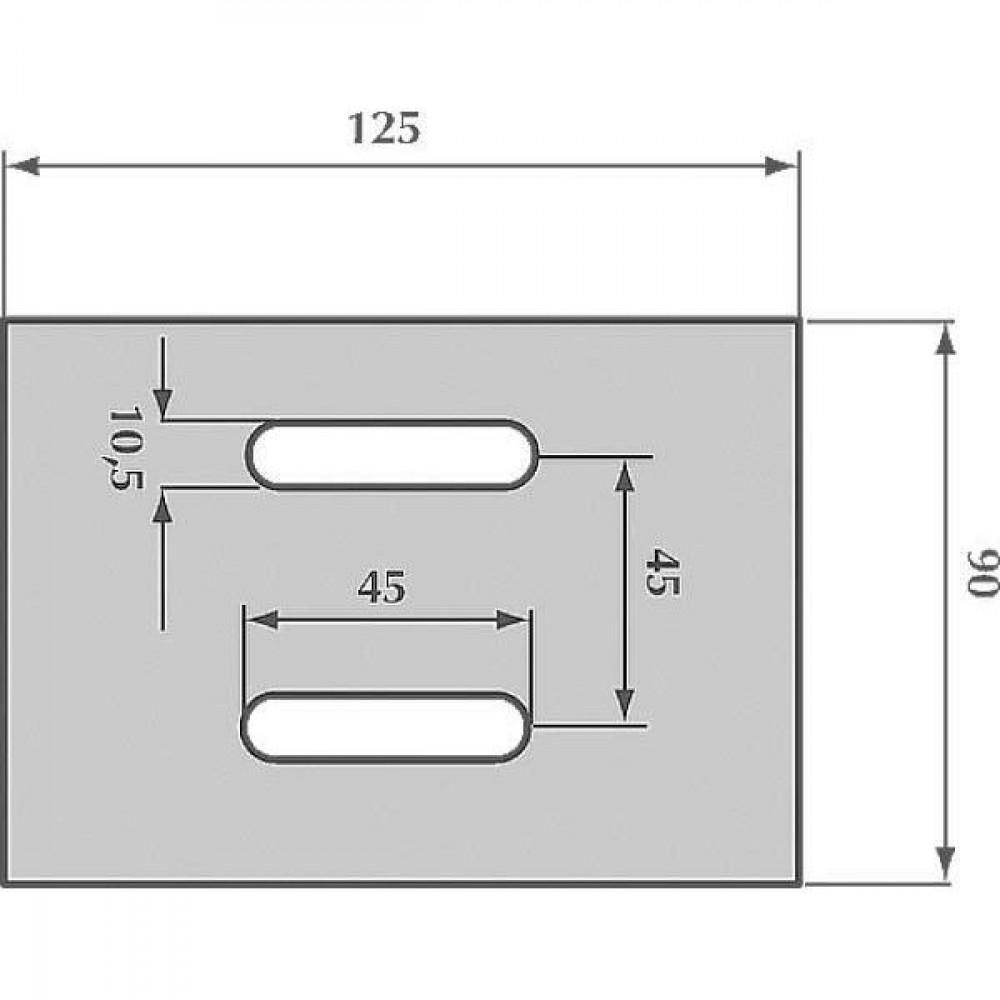 Afstrijker opgelast Feraboli - AB038003H | 10.5x45 mm