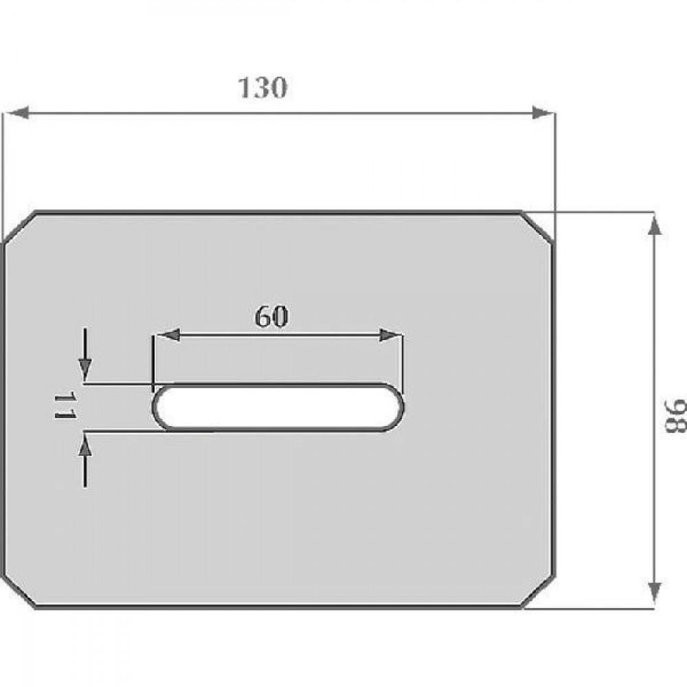 Afstrijker 97x130mm Krone - AB060002   490.761.2   130 mm   130 mm