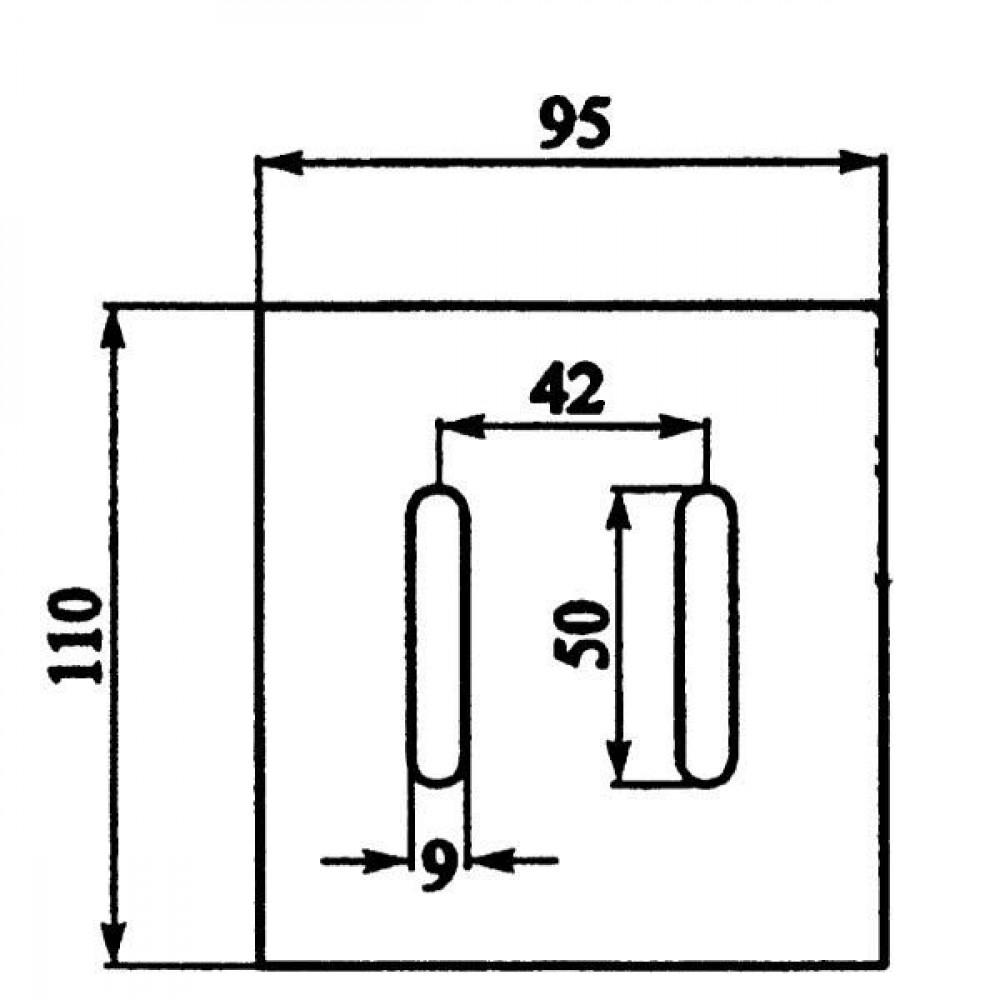 Afstrijker 95x110mm Maschio - AB090004 | 110 mm | 110 mm