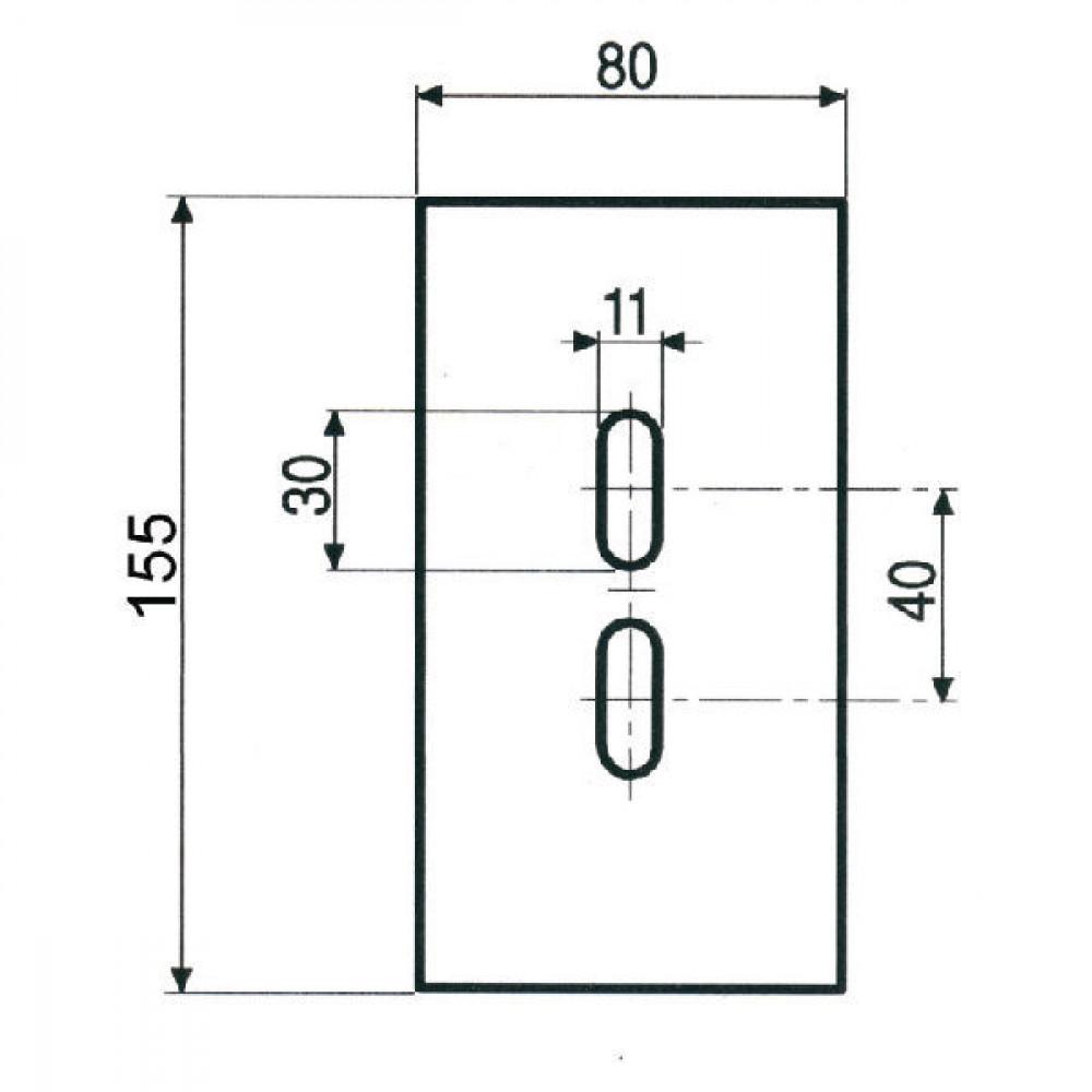 Afstrijker 80x155mm Pegoraro - AB110001 | 006.567 | 155 mm