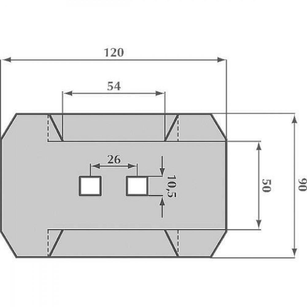 Afstrijker 90x120mm Rau - AB140002 | 0048230 | 120 mm | 120 mm