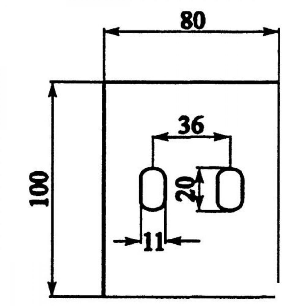 Afstrijker 80x100mm Sicma - AB150001 | 100 mm | 100 mm