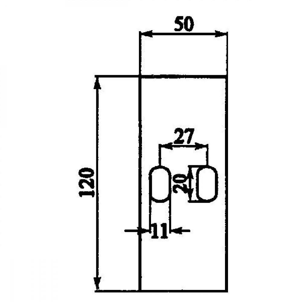 Afstrijker 50x120mm Sicma - AB150003   120 mm   120 mm