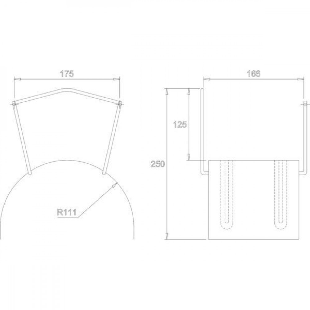 ALBA-Krapf Wandslanghouder MIDI RVS - AKS13077 | 1.4301 / AISI 304 | 0,9 kg