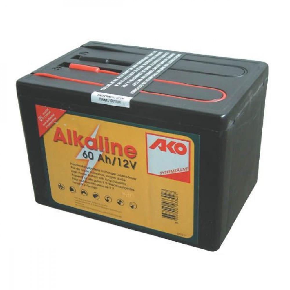 AKO Alkaline 12 V droge batterij - 350533 | Lange levensduur | 163 x 113 x 110 | 60 Ah