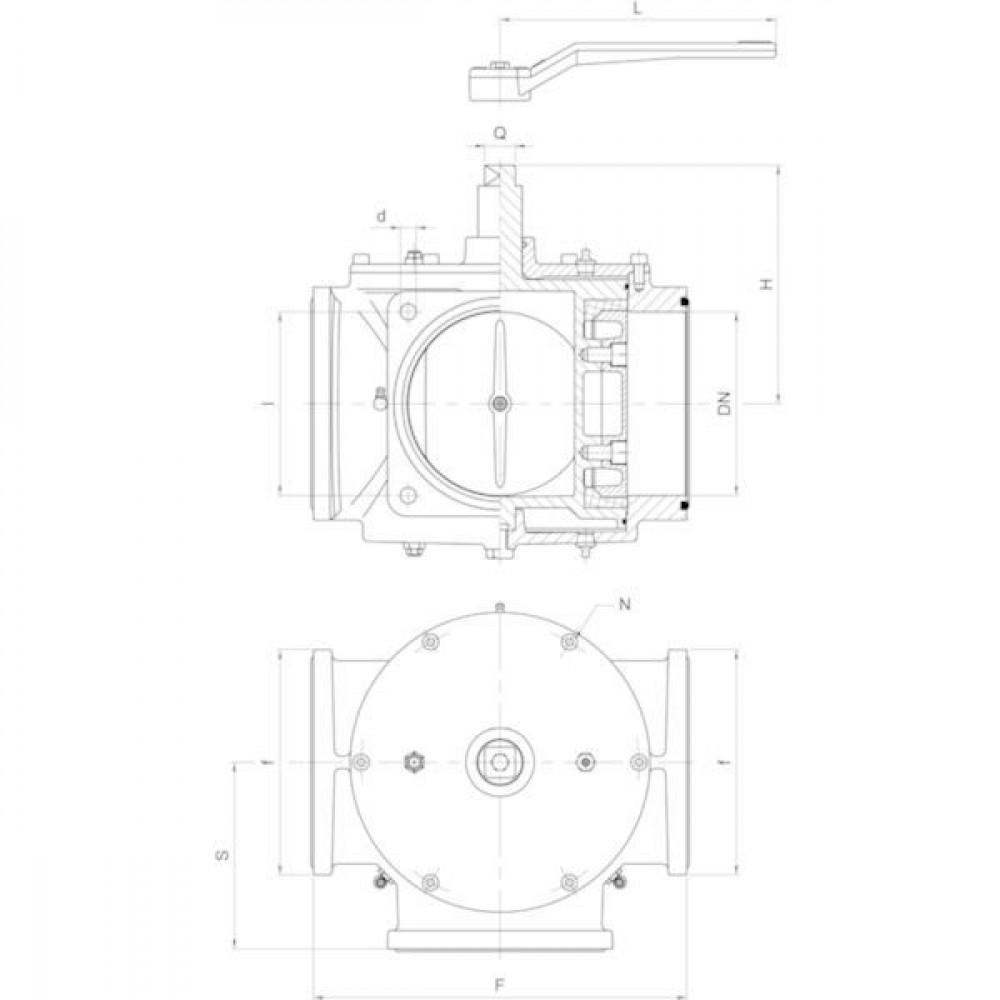 "MZ Driewegkraan 6"" - ARZO0024150000 | 305 mm | 189 mm | 150 mm | 325 mm | 152,5 mm | 184 mm | 6 Inch"