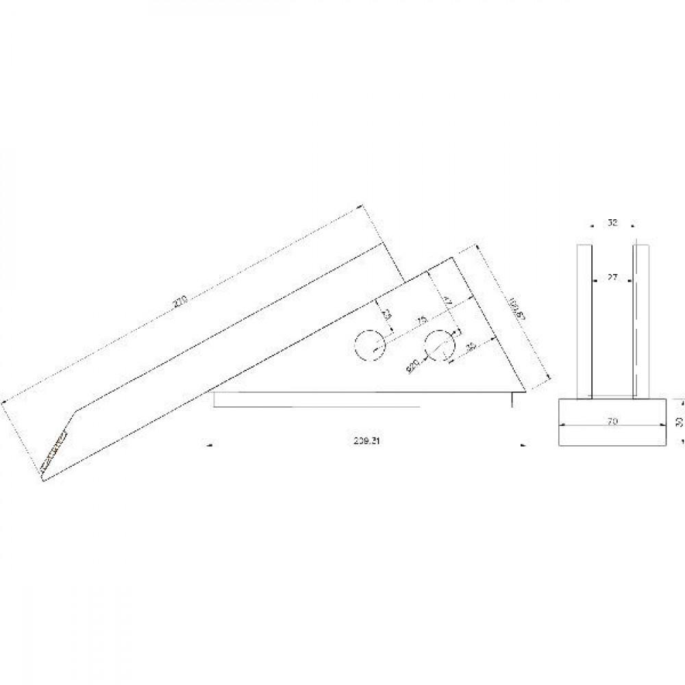 Schaar voor ondergrondwoeler - AVS004530CN   270 mm