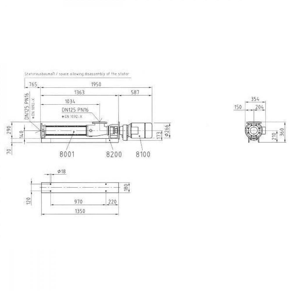 Seepex Wormpomp - BN526L | 3 bar | 210 Rpm omw/min | 32 m³/h m³/h | 350 Nm | 5,3 Nm