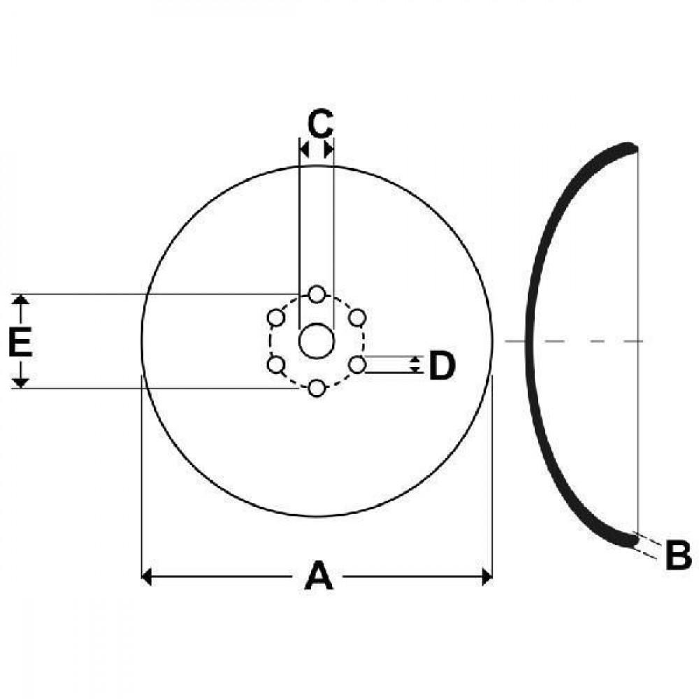 Schijf - CD3503   360 mm   51 mm   7 mm