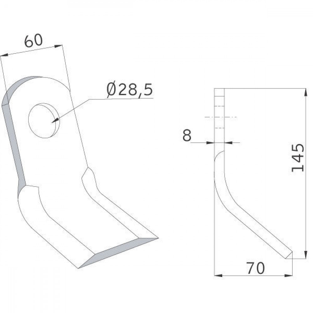 Klepelmes Sauerburger - CK5326 | 145 mm | 28,5 mm