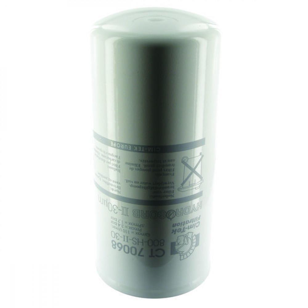 "Cim-Tek Filterelement 0,54L - CT70068 | 800-HS-II-30 | 1 1/2"" 16 UNF Inch | 3.4 bar | 30 µm | 279 mm | 127 mm | 110 l/min"