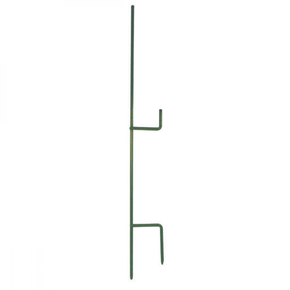 Metaal paal 1 mtr / 2 isolatoren - EF701102 | 100 cm