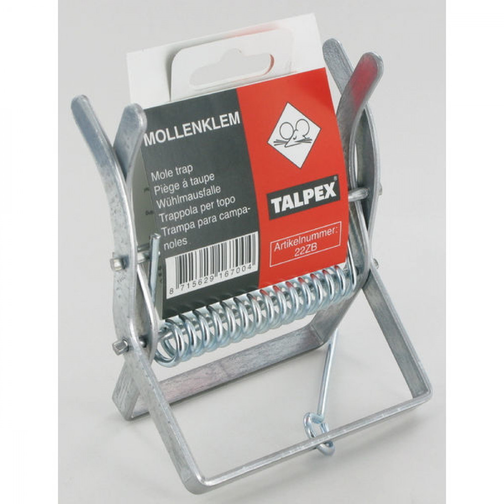 Mollenklem Talpex Blister - ES6610B   Electrolytisch verzinkt