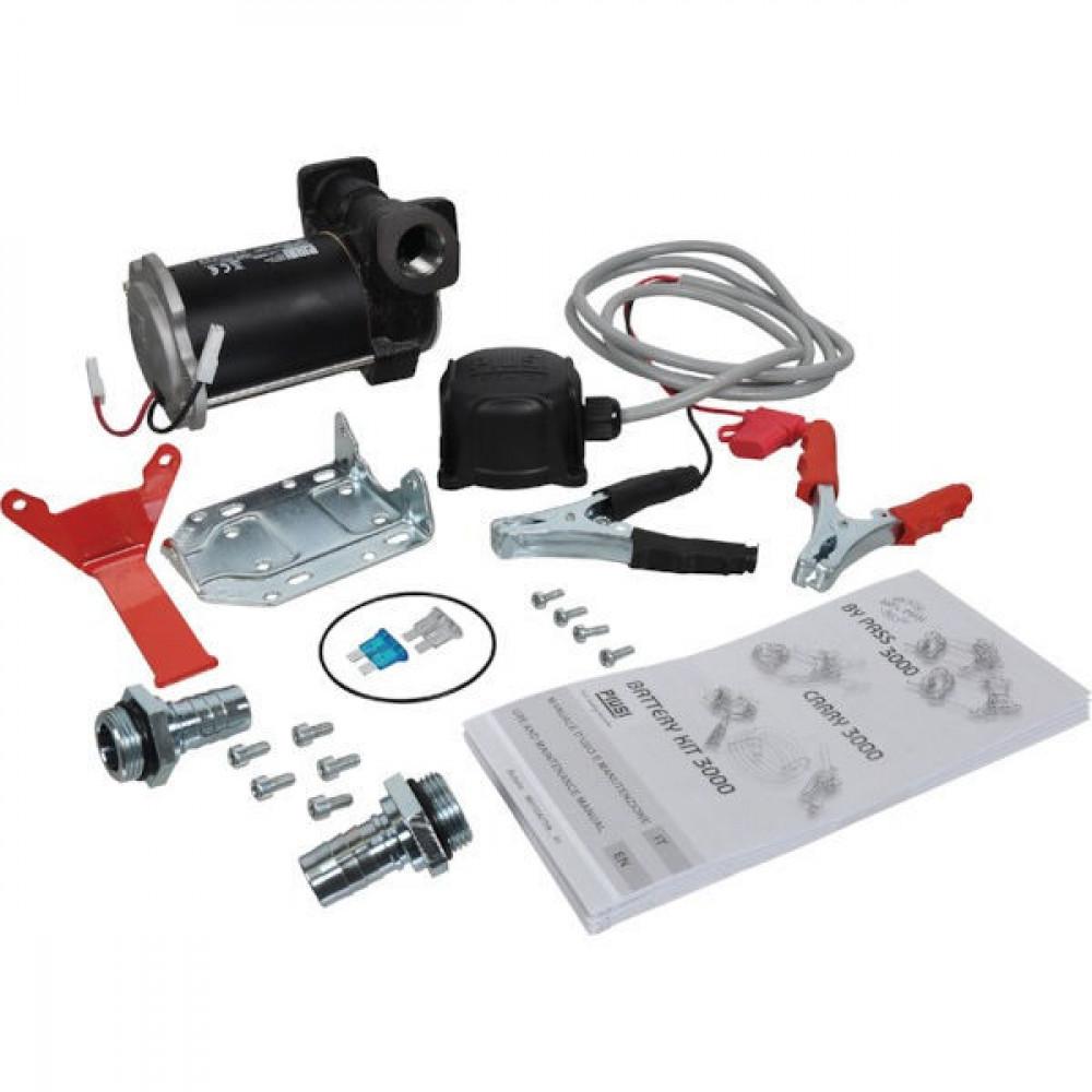 Piusi Dieselpomp Carry 3000 12 - F00223260 | Robuuste handgreep | 2.900 Rpm | 50 l/min | 1.5 bar | 2 4 m | 30 min | 3/4 Inch