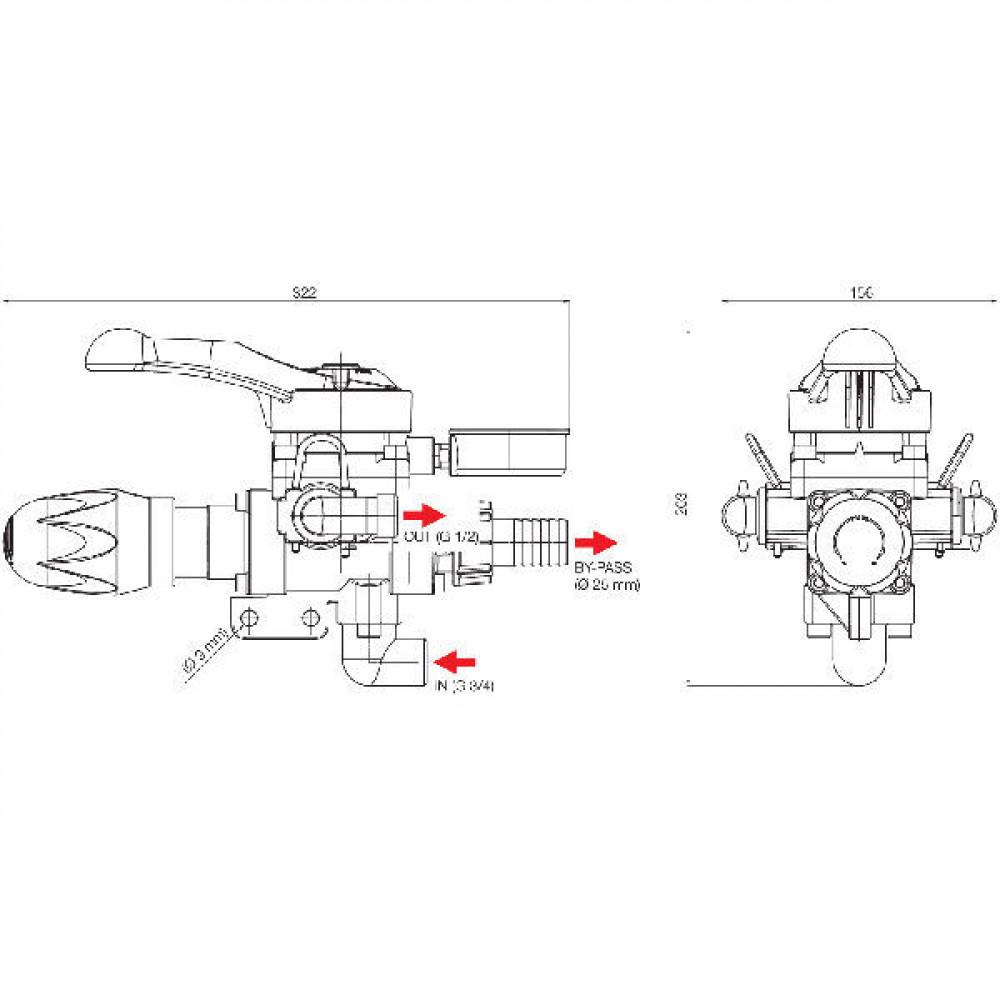 Arag Stuursysteem v. spuitboom - F36969 | 50 bar