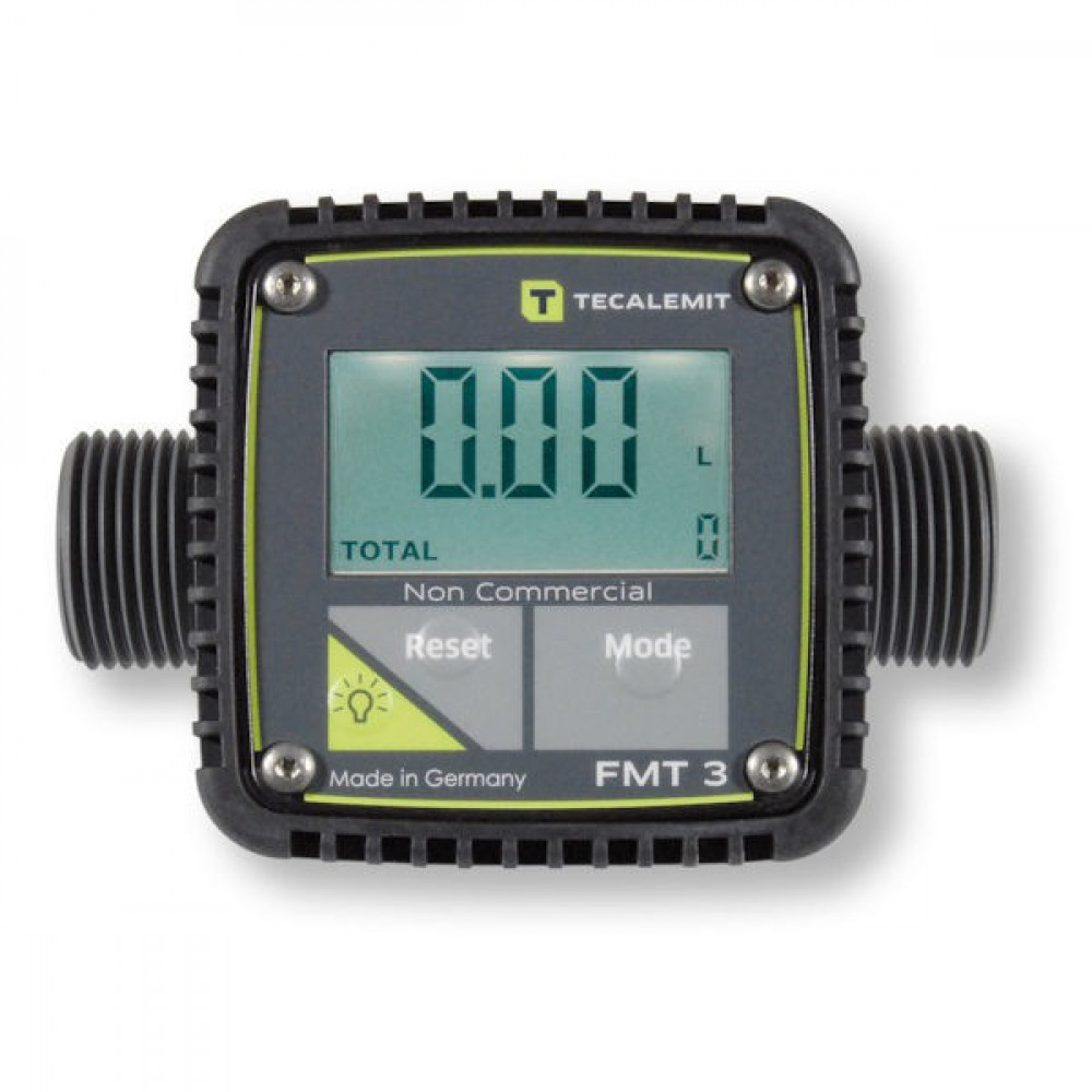 Tecalemit Telwerk digitaal - FMT3 | 1 Inch | 5 120 l/min | 10 bar | 120x52x85 mm | -10 / +40 °C | 20 bar