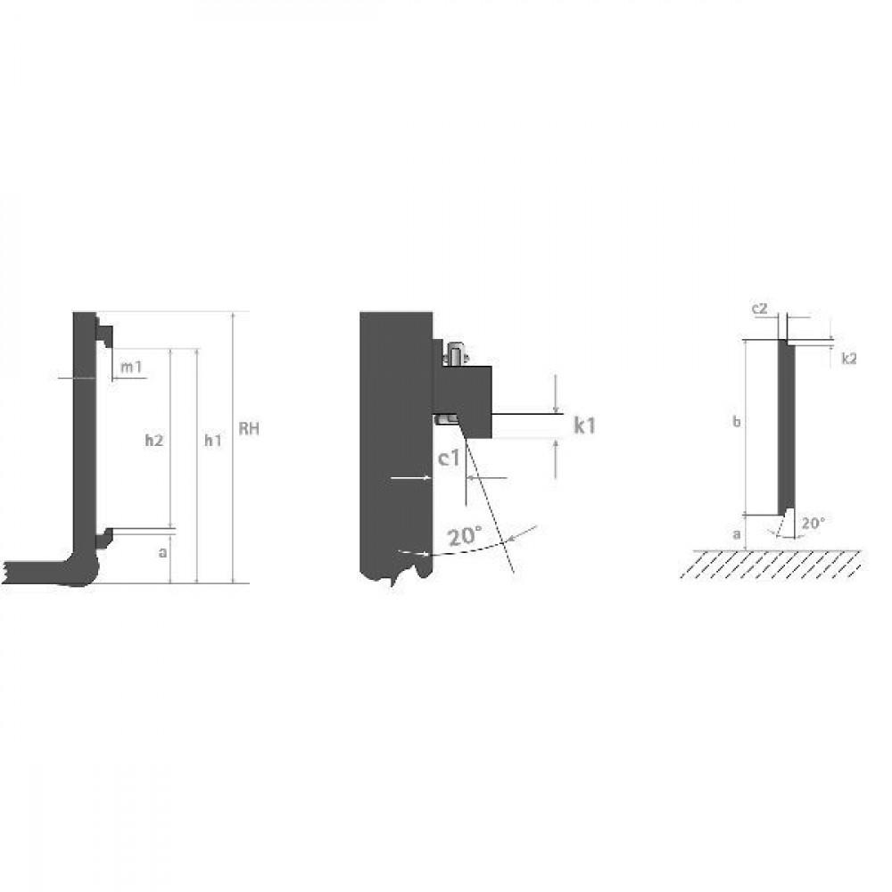 Doorkijkframe1200/1000Kg - FT3151 | 1200 mm | 1000 kg | 500 mm | FEM 2A