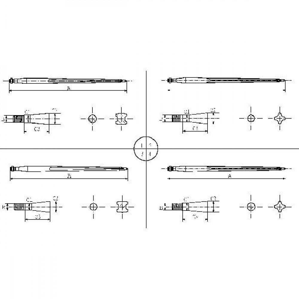 Forges du saut du tarn Frontladertand 980 mm - FT45980 | 980 mm | M28 x 1,5 | 30 mm | 95 mm