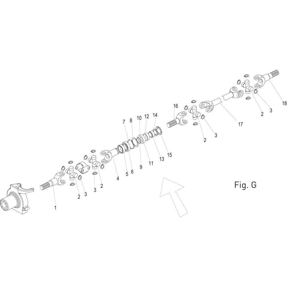 Massey Ferguson Fusee - 7600645001 | Type 770-618, 770-624 | Fig.G 19