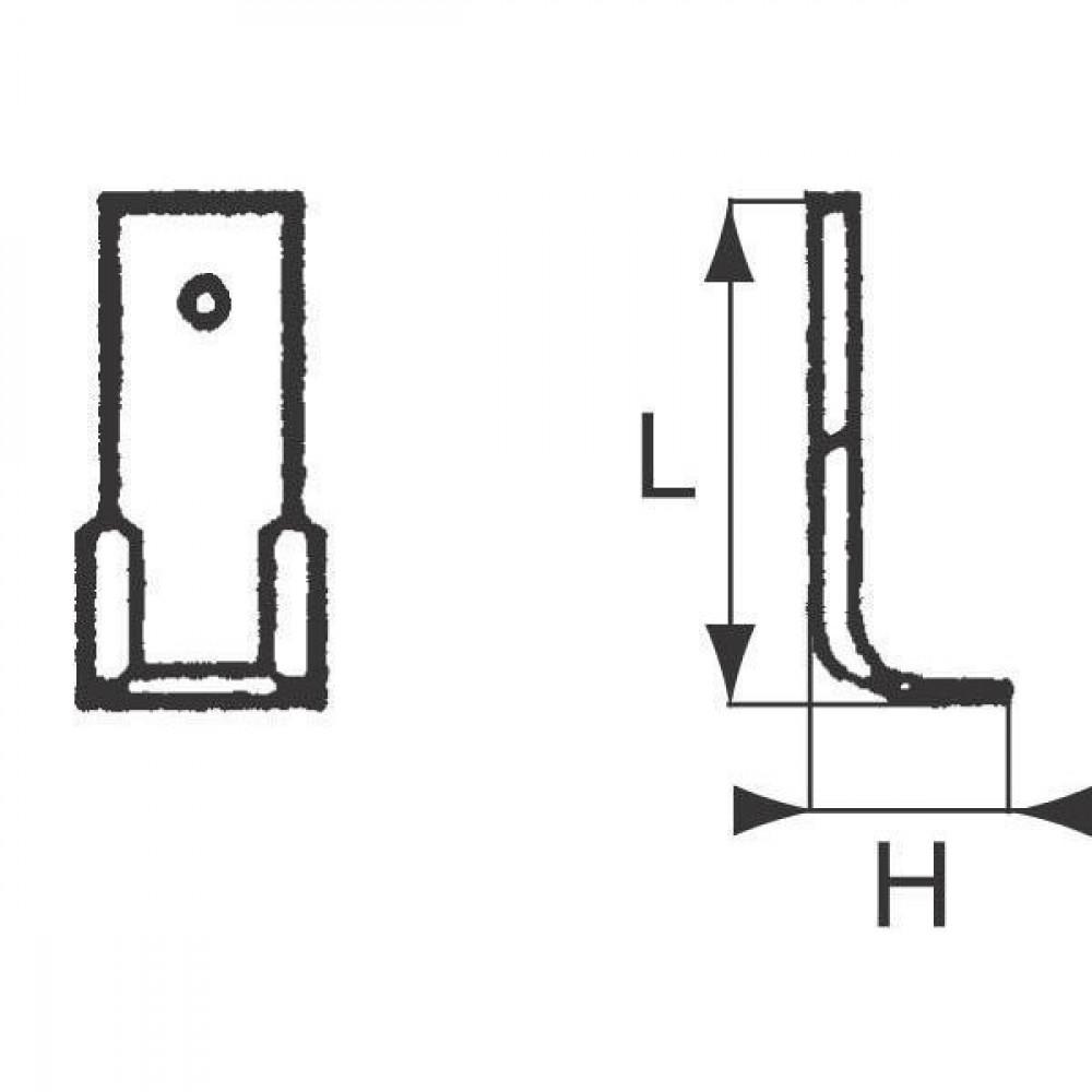 Freesmes Nothill Gaspardo - G22290001R | 162 mm | 0,45 kg
