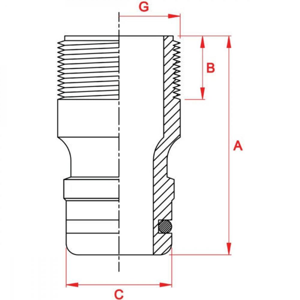 "Gardena Inst.nip. Prof-sys. 3/4"" bu - GA2821 | G 3/4"" 26.5 mm | 22,5 mm | Buitendraad"