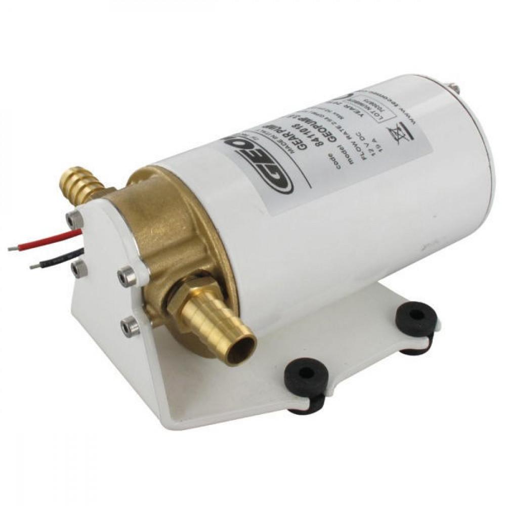 Geoline Tandwielpomp 12V 10L/min. - GEP8411018 | 10 l/min | 3.5 bar | 14 mm | 179 mm | 110 mm | 88 mm | 2,7 kg | 179 mm | 115 mm