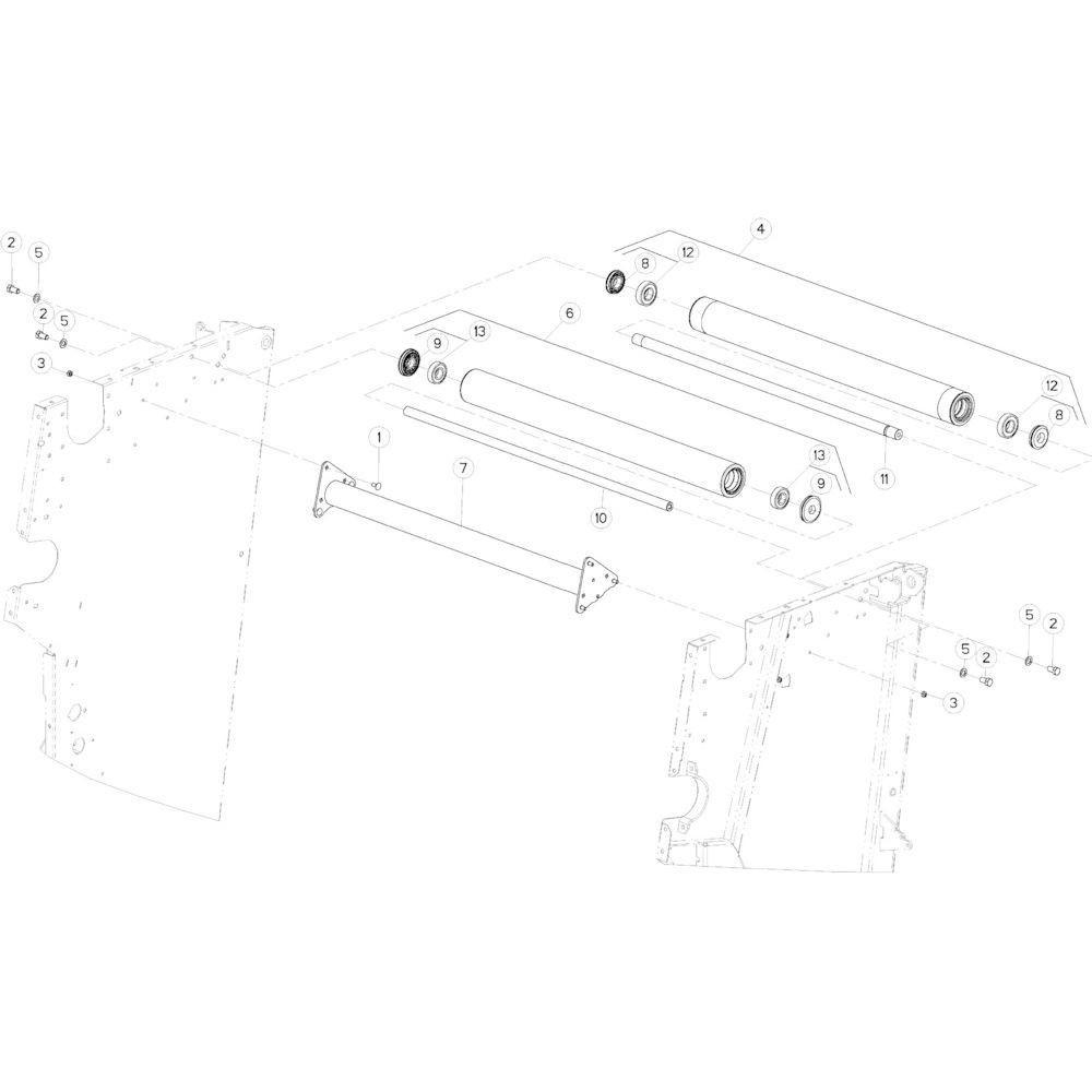12 Rol bovenste passend voor KUHN VB2260