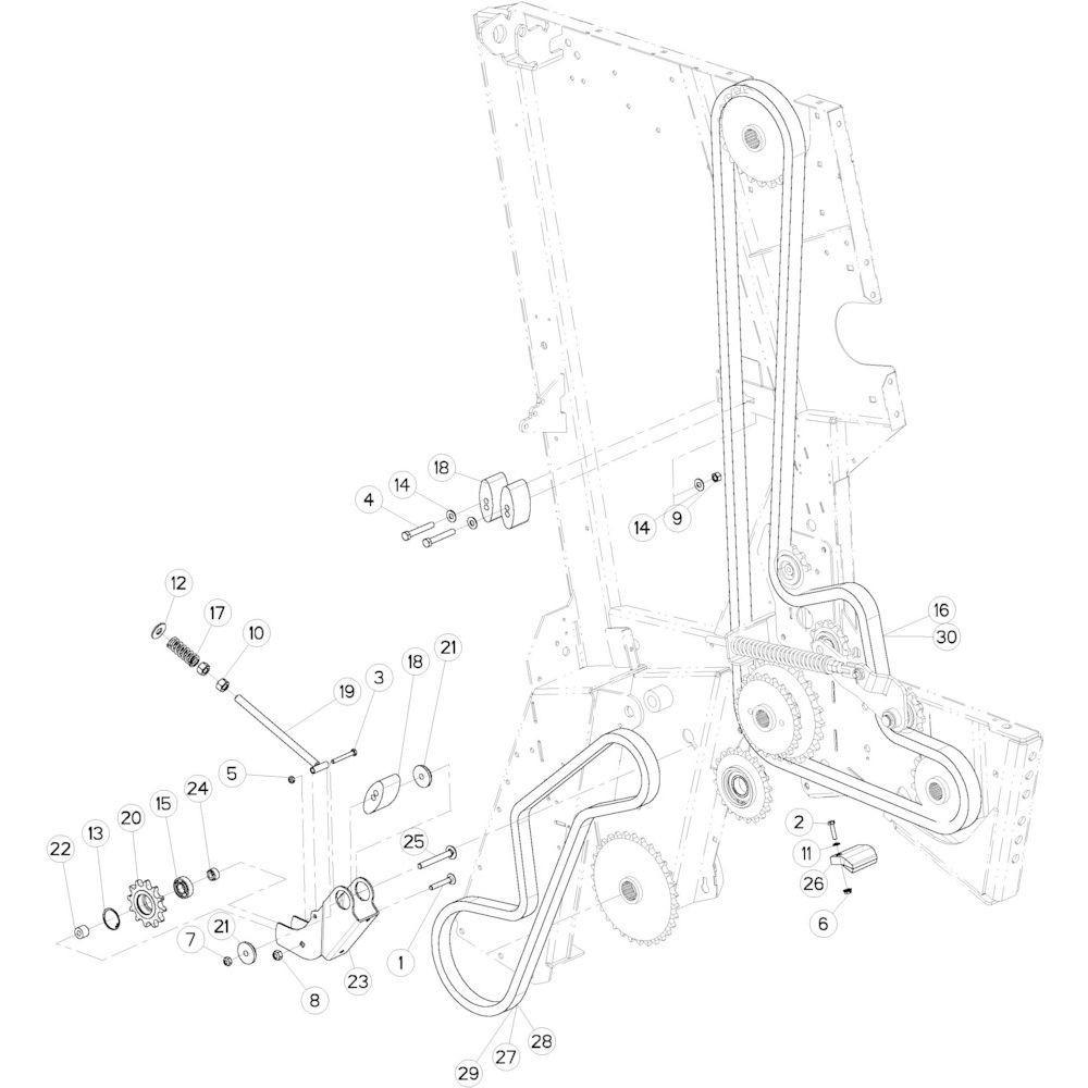 20 Aandrijfketting links passend voor KUHN VB2260