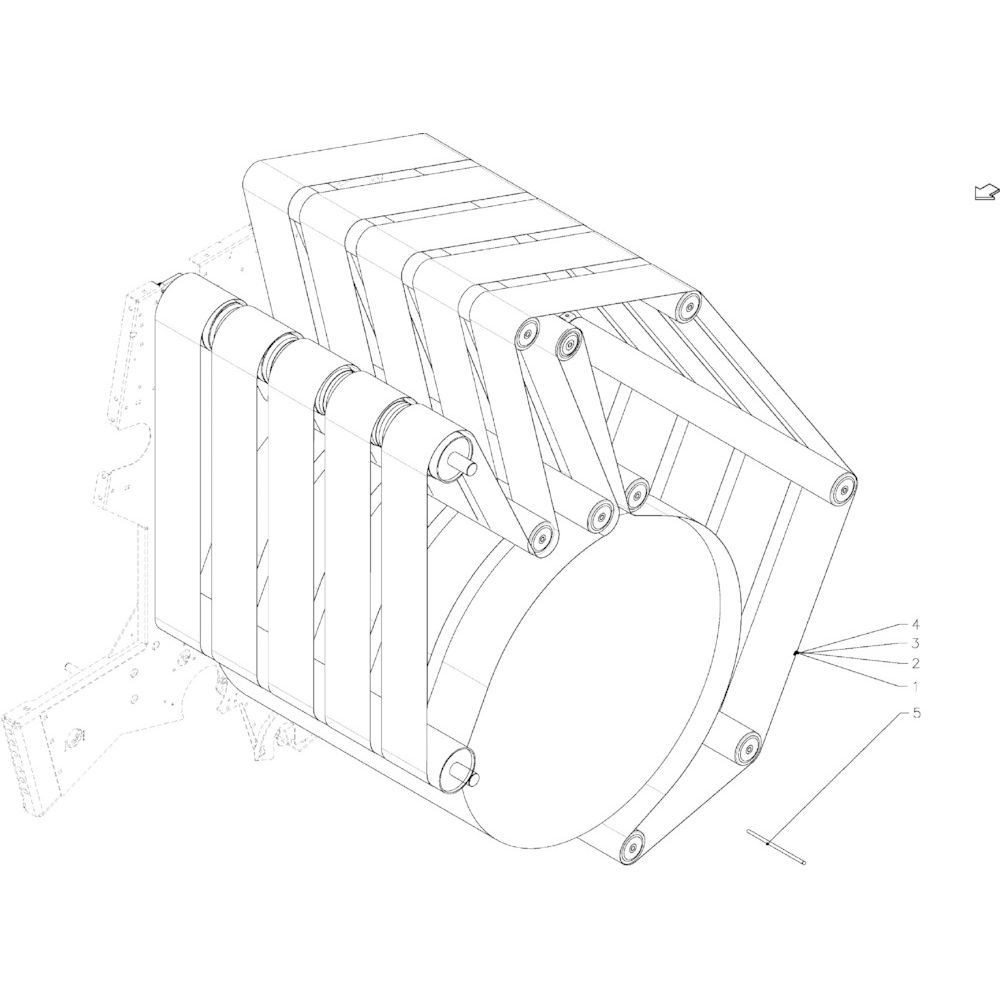 22 Achterklep passend voor KUHN VB2260