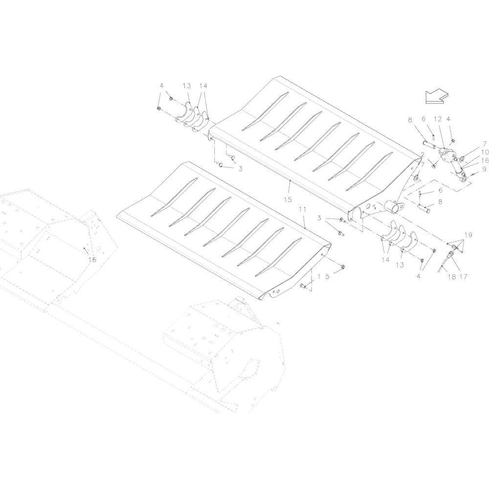 50 Rotor breed passend voor KUHN VB2260