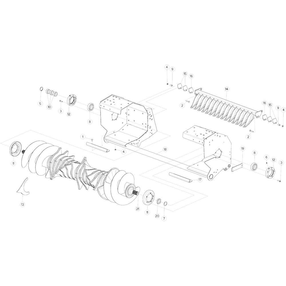 51 Vloer rotor passend voor KUHN VB2260