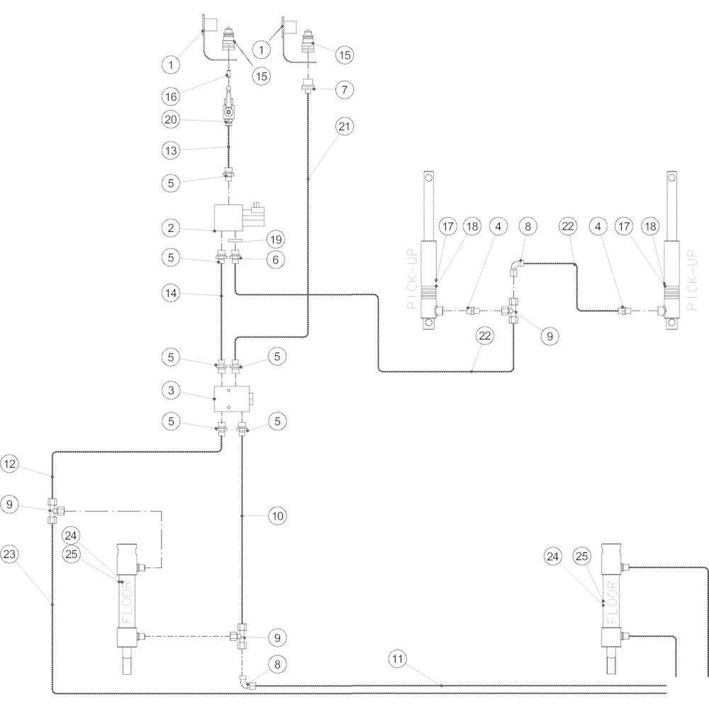 58 Hydraulische opraper passend voor KUHN VB2260