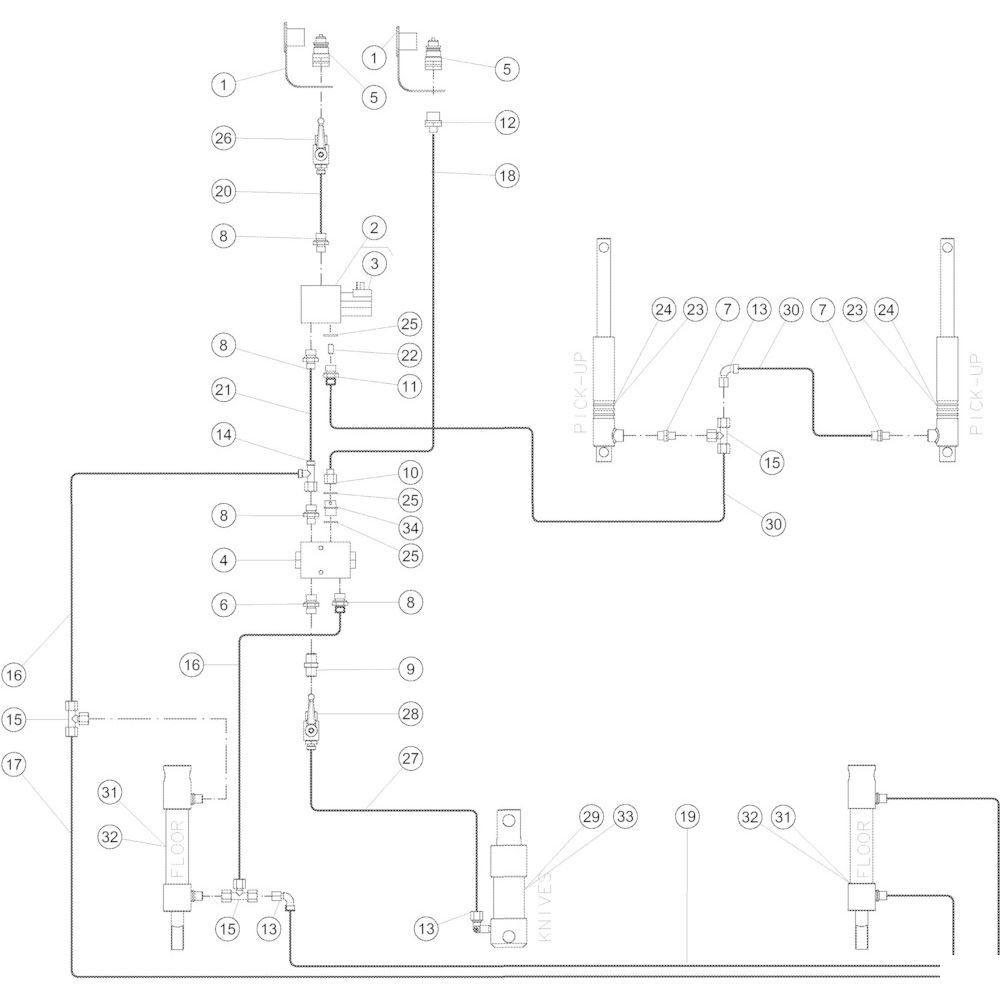 59 Hydraulisch R passend voor KUHN VB2260