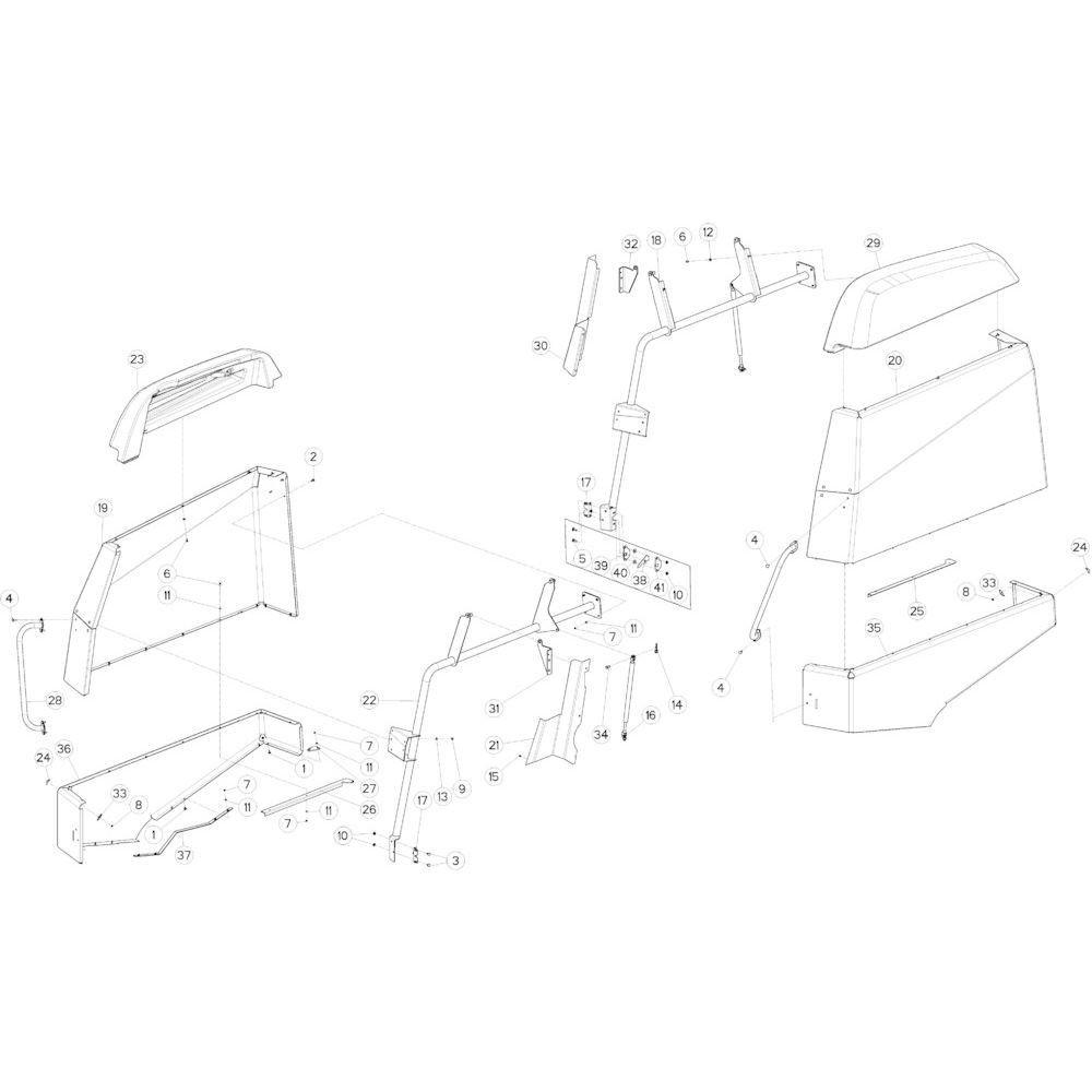 62 Beschermingen touwbindsysteem passend voor KUHN VB2260