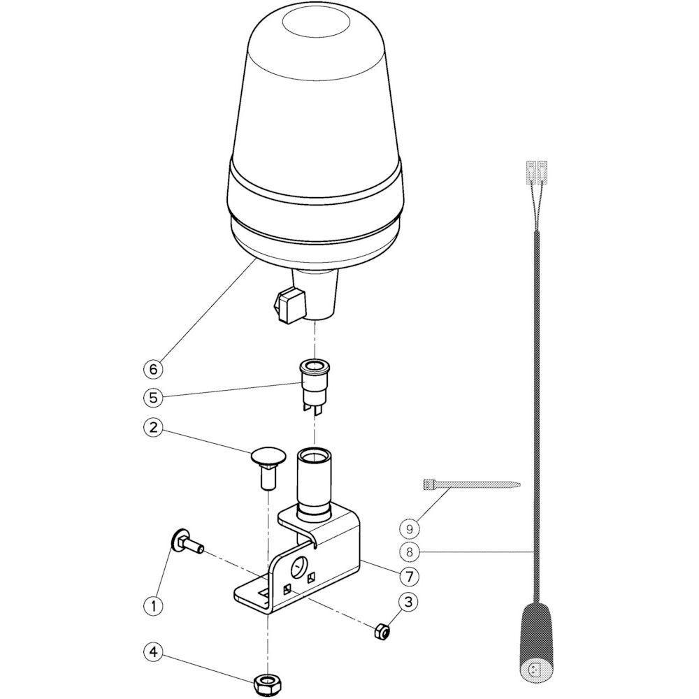 83 Verlichtingsuitrusting voorzijde passend voor KUHN VB2260