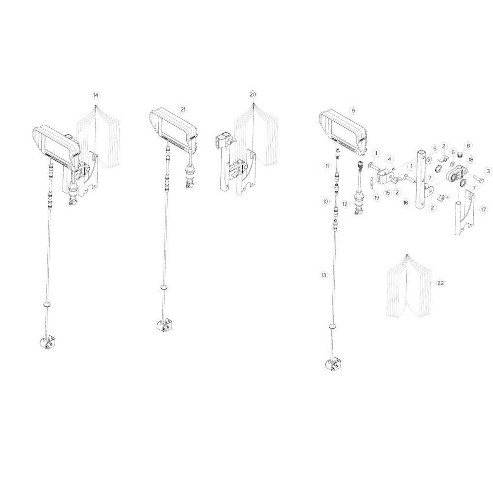 87 Kabel 3-pins Vt50 passend voor KUHN VB2260