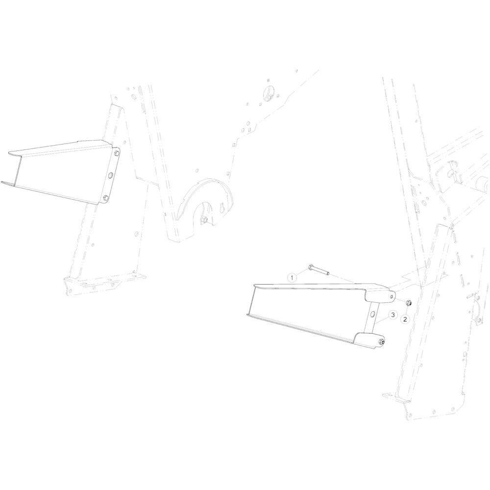 89 Vloerverlengstuk passend voor KUHN VB2260
