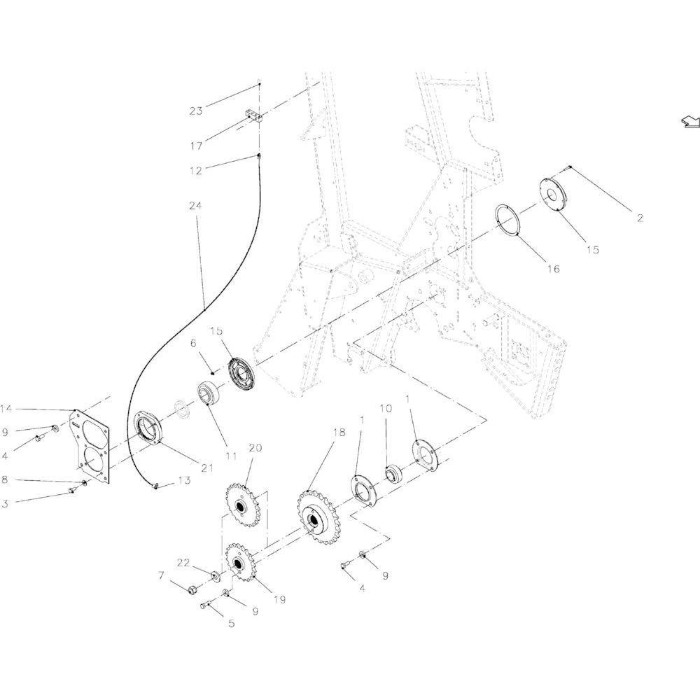 91 Touwindicator passend voor KUHN VB2260