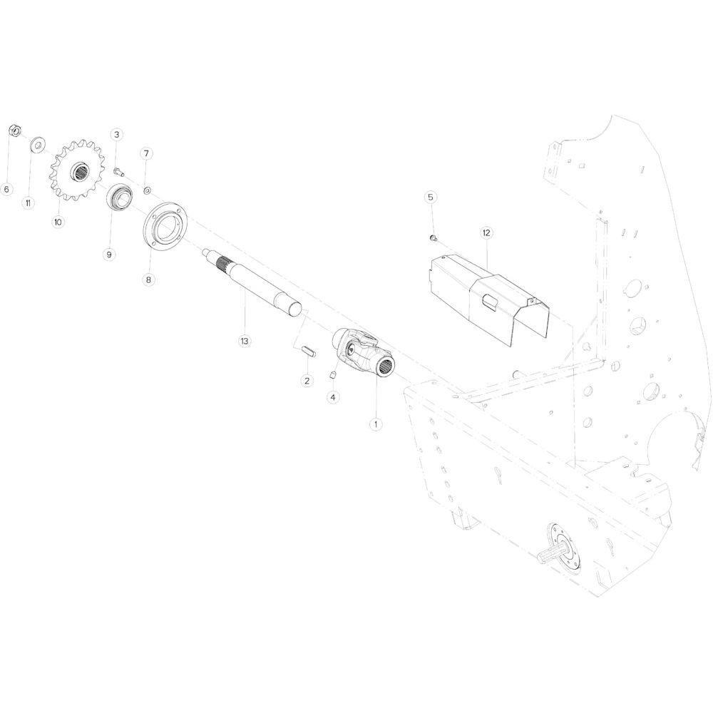 02 Aandrijving passend voor KUHN VB 2265
