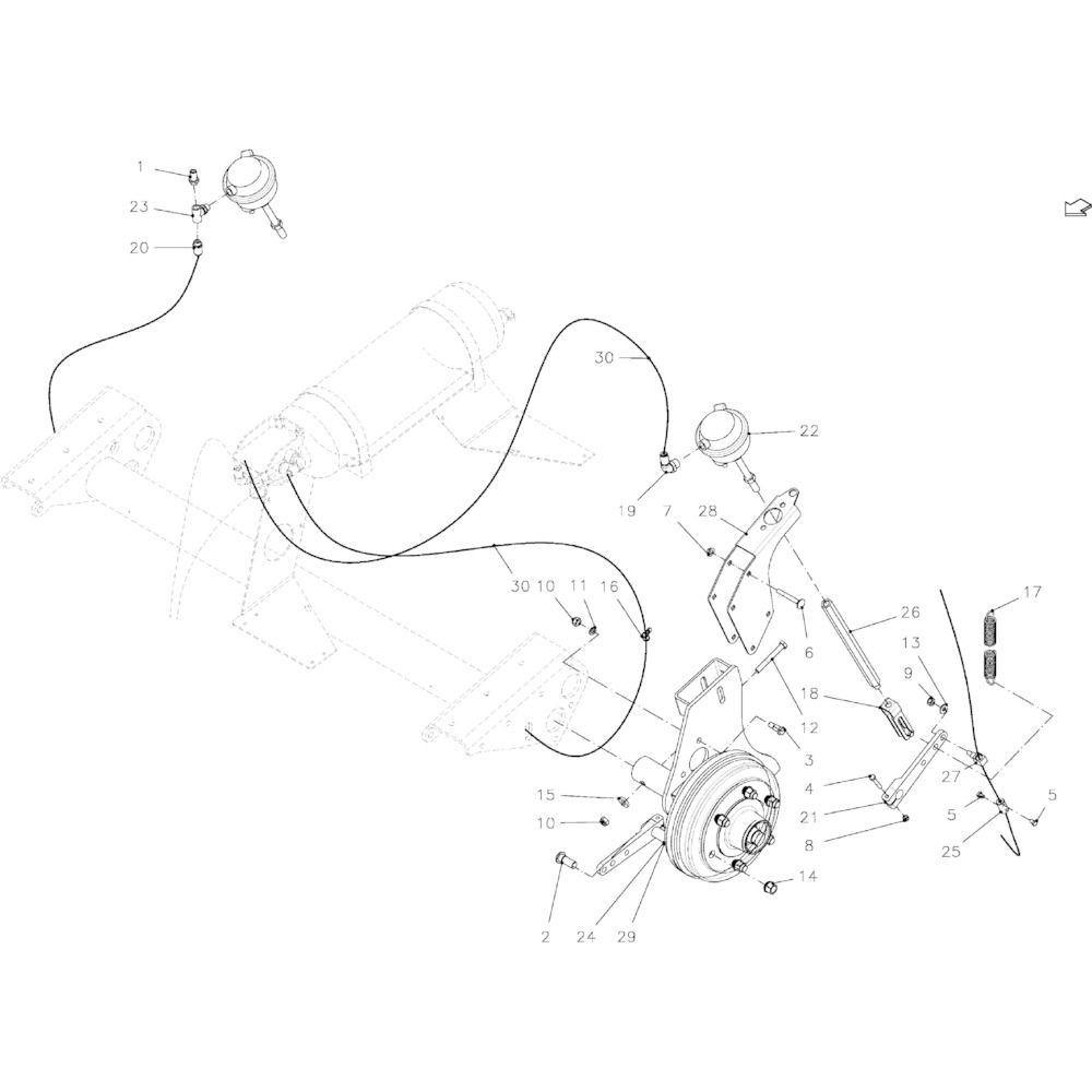 06 Pneumatische rem passend voor KUHN VB 2265