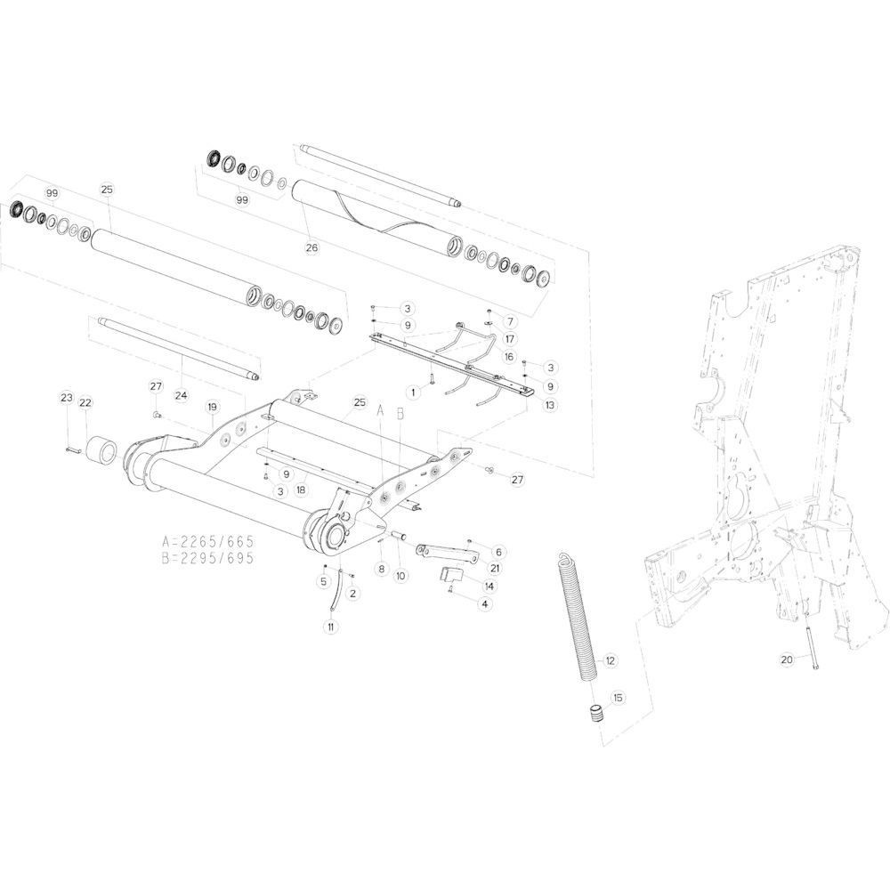 13 Riemspanner passend voor KUHN VB 2265