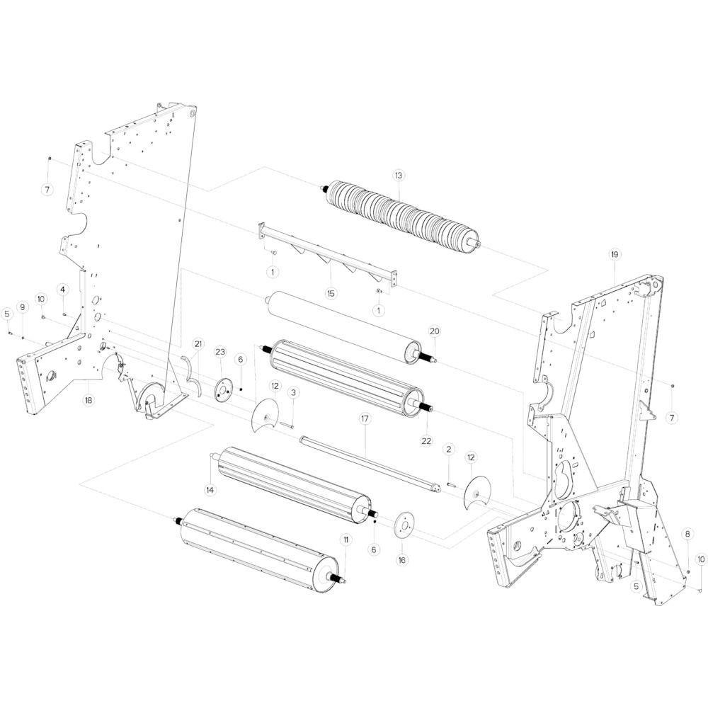 14 Rol centraal frame passend voor KUHN VB 2265