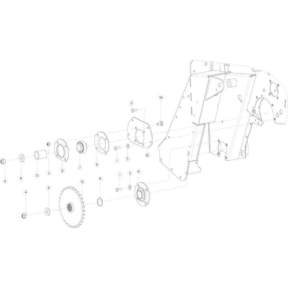18 Aandrijfketting rechts passend voor KUHN VB 2265