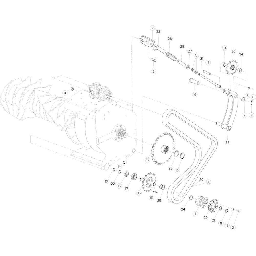 54 Kettingspanner R+Oc passend voor KUHN VB 2265