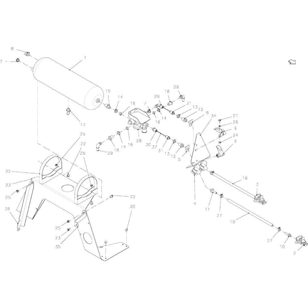 10 Luchttank passend voor KUHN VB 2265