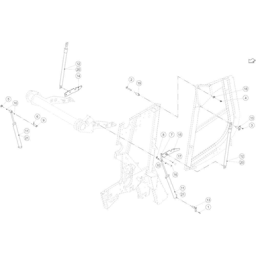 24 Hydraulische achterklep passend voor KUHN VB 2265