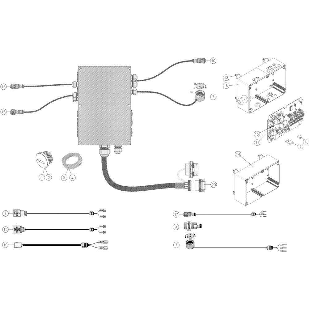 29 Besturingsbox Iso passend voor KUHN VB 2265
