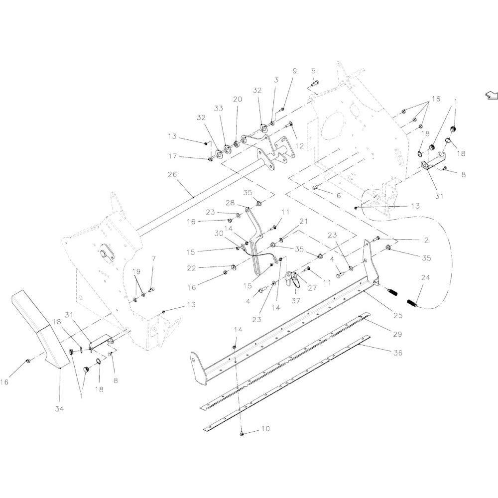 36 Netwikkelset geleiding passend voor KUHN VB 2265