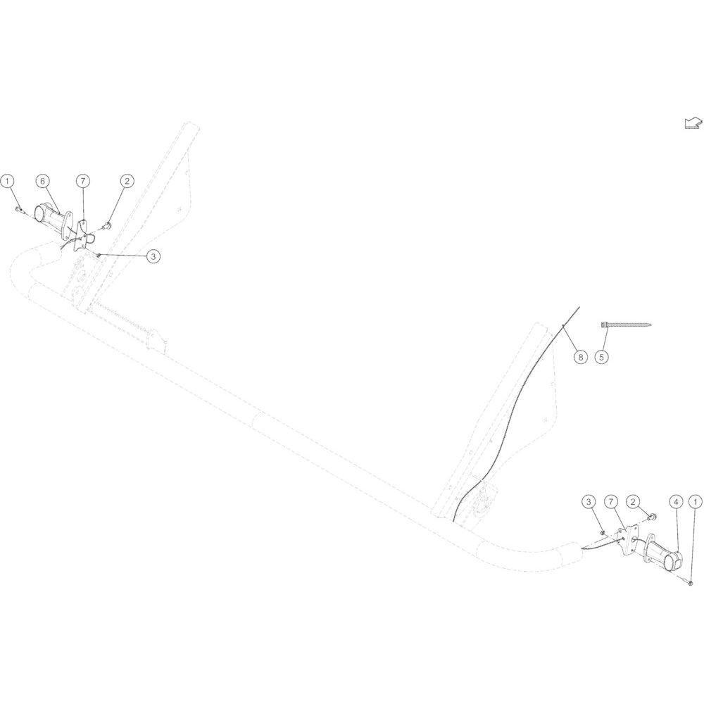 75 Verlichtingsuitrusting voorzijde passend voor KUHN VB 2265