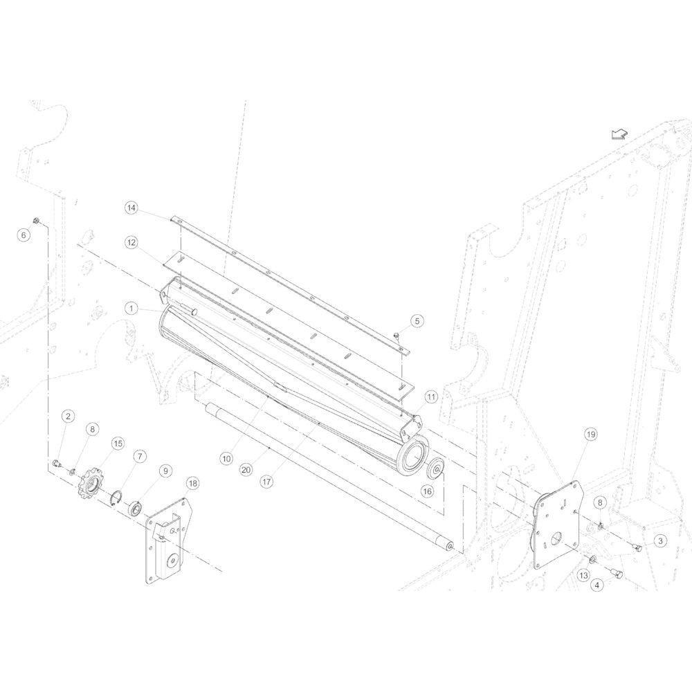 12 Hakselaarrol passend voor KUHN VB2285